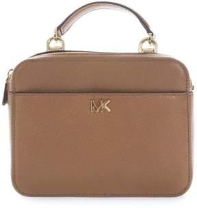 MICHAEL Michael Kors Camel Mott Medium Shoulder Strap In Leather