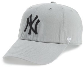 '47 Women's Clean Up Ny Yankees Baseball Cap - Grey