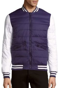 Members Only Zip-Front Colorblock Varsity Jacket