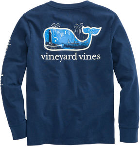 Vineyard Vines Boys Long-Sleeve Glow-in-the-Dark New Years Scene T-Shirt