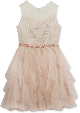 Rare Editions Lace-Bodice Dress, Big Girls Plus