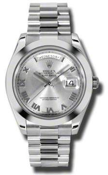 Rolex Day-Date II Rhodium Dial Platinum President Automatic Men's Watch