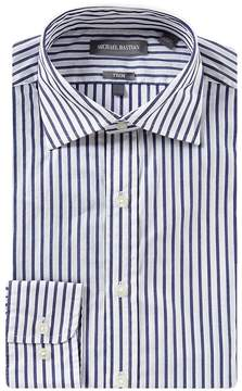 Michael Bastian Stretch Slim Fit Point Collar Bengal Striped Dress Shirt