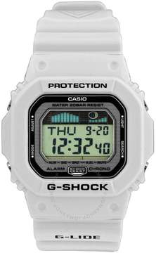 Casio G-Lide Multifunction Digital White Resin Men's Watch
