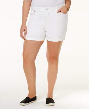 Celebrity Pink Trendy Plus Size Denim Shorts