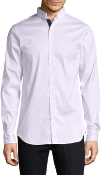 Armani Exchange Men's Cotton Solid Sportshirt