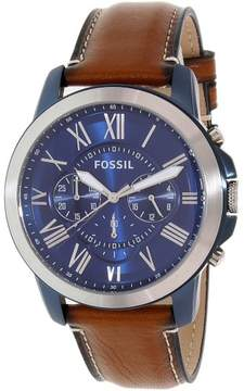 Fossil Men's FS5151 Grant Leather Watch, 44mm