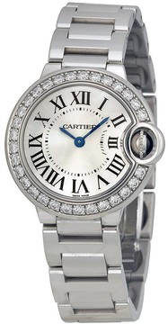 Cartier Ballon Bleu 18kt White Gold Ladies Watch
