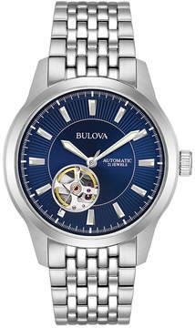 Bulova Men's Automatic Stainless Steel Bracelet Watch 40mm 96A189, A Macy's Exclusive Style