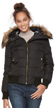 Apt. 9 Women's Puffer Faux-Fur Trim Bomber Jacket
