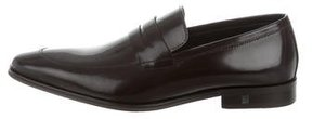Versace Collection Leather Penny Loafers w/ Tags