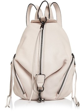 Rebecca Minkoff Julian Medium Backpack - SOFT BLUSH PINK/GUNMETAL - STYLE