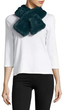 Lord & Taylor Pull-Through Faux Fur Scarf