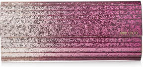 Jimmy Choo SWEETIE Champagne and Grape Degrade Glitter Acrylic Clutch Bag
