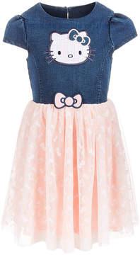 Hello Kitty Toddler Girls Denim Tutu Dress