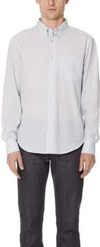 Naked & Famous Denim Striped Summer Button Up Shirt