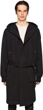 Diesel Black Gold Long Hooded Cotton Blend Coat