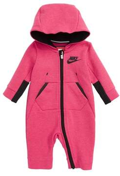 Nike Infant Girl's Tech Fleece Hooded Romper