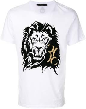 Billionaire lion and monogram print T-shirt