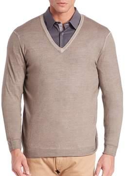 Pal Zileri Men's V-Neck Wool Sweater