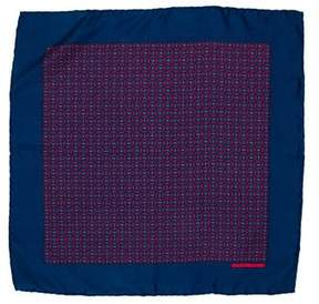 Hermes Silk Horsebit Print Pocket Square