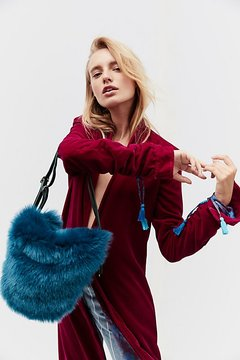 Faux Fur Convertible Backpack by Free People