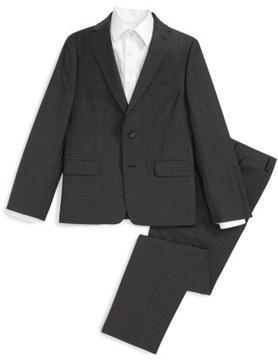 Boy's Michael Kors Check Wool Suit