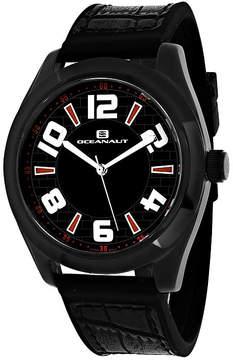 Oceanaut Vault Mens Black Silicone Strap Watch
