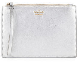 Kate Spade Highland Drive Metallic Pouch Wristlet Bag - SOFT ROSE GOLD - STYLE