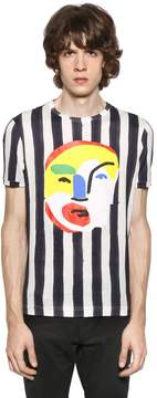 John Booth Face Patch & Stripes T-Shirt