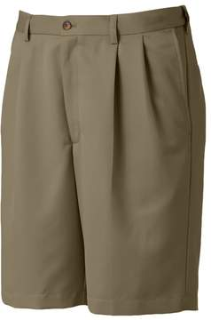 Haggar Cool 18 Pleated Microfiber Shorts - Men