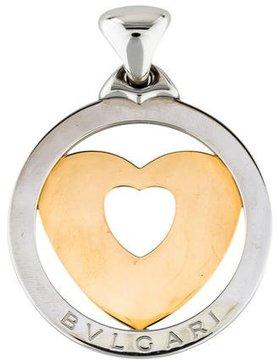 Bvlgari Two-Tone Tondo Heart Pendant
