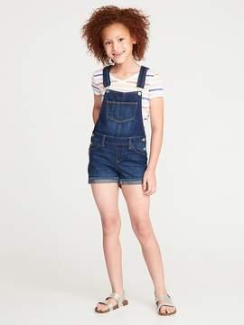 Old Navy Raw-Edge Denim Shortalls for Girls