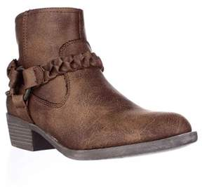 XOXO Glorius Braided Strap Ankle Booties, Tan.