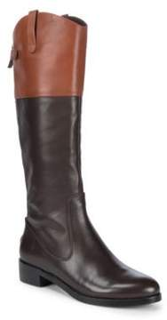 Halston Leather Knee-High Boots