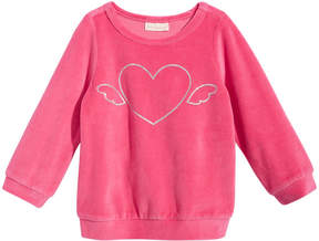 First Impressions Heart-Print Velour T-Shirt, Baby Girls (0-24 months), Created for Macy's