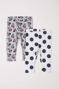 H&M 2-pack Jersey Leggings - Gray