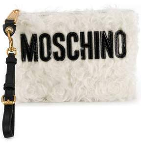 Moschino textured clutch bag
