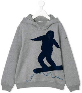Il Gufo snowboard print hoodie