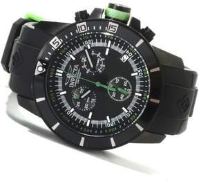 Invicta 13935 Men's Quartz Black Dial Chronograph Display PU Strap Watch