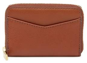 Fossil Mini Zip Leather Wallet - RFID Protection