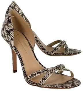 AERIN Snakeskin Cross Strap Heels