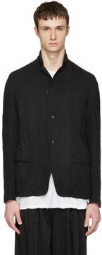 Attachment Black Textured Blazer