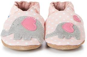 Robeez Baby Girls' Little Peanut Soft Sole Crib Shoes
