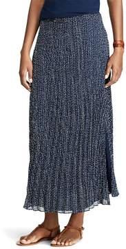 Chaps Women's Pleated Georgette Skirt