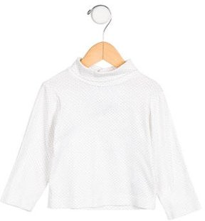Jacadi Girls' Polka Dot Long Sleeve Top