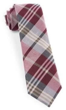 The Tie Bar Crystal Wave Silk Blend Plaid Tie