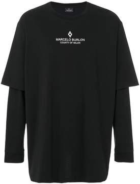 Marcelo Burlon County of Milan long-sleeve layered T-shirt