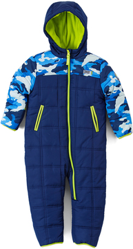 Weatherproof Navy Camo Hooded Snowsuit - Infant