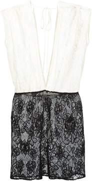 Fleur Du Mal lace mini dolman dress